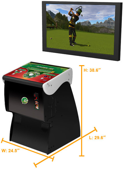 Golden Tee Home Edition Dimensions